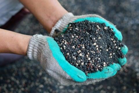 土  肥料と堆肥を合わせた用土