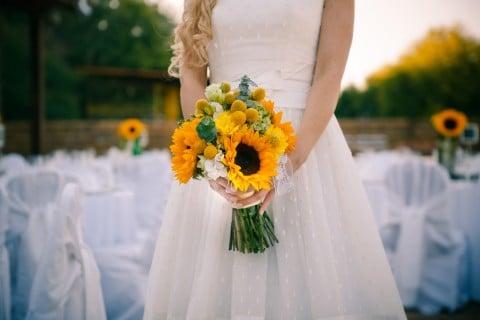 ひまわり ブーケ 結婚式