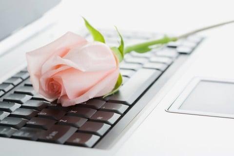 パソコン バラ ピンク 退職祝い