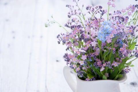 ワスレナグサ 花瓶