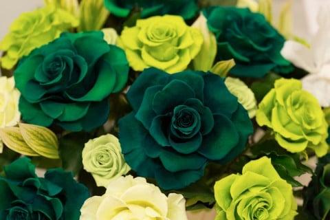 プリザーブドフラワー 緑