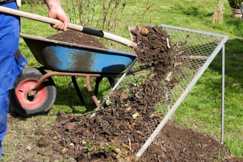 腐葉土 堆肥 枯れ葉 落ち葉 網 肥料