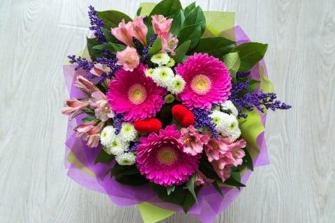 ガーベラ 菊 花束