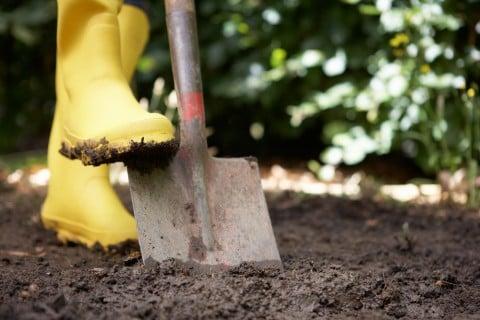 土作り シャベル 掘り返し