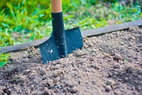 土作り シャベル 畑