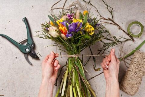 花束 作り方 ドライフラワー