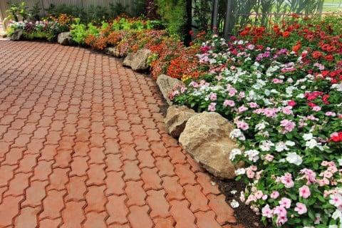 園芸 ガーデニング レンガ 花壇