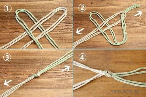 オリジナル マクラメハンギング 編み方