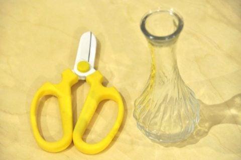 ハサミ コップ ガラス