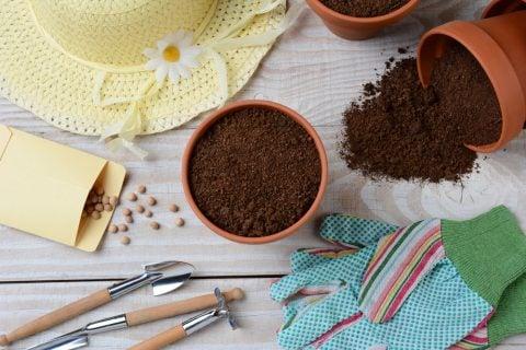 土作り 植え付け 準備 鉢植え 種まき シャベル 赤玉土 植え替え