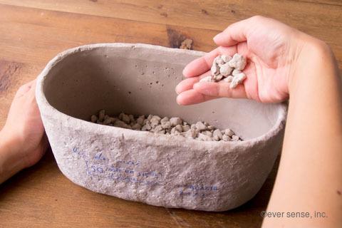 オリジナル アイビー 寄せ植え 鉢 鉢底石