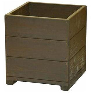 要出典  Welcome-wood  12号ウッドプランターH12D-UB 鉢カバーとしても使用できます   容量・約39リットル-(ウッドナチュラル-木製プランター-鉢カバー)