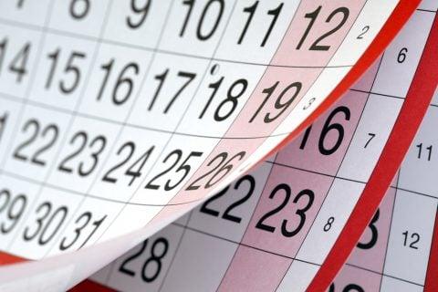 カレンダー めくり