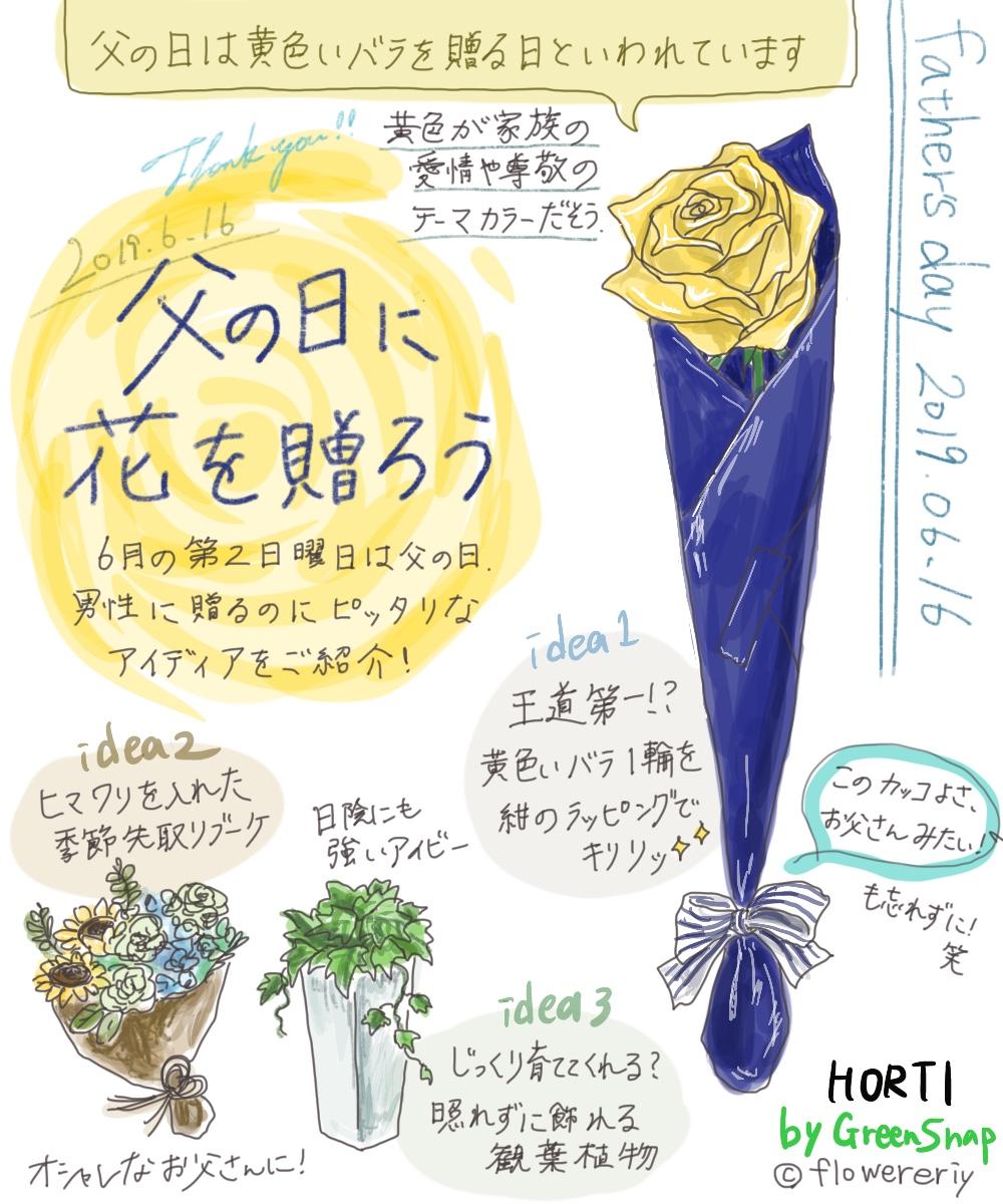 【#エリの花日記 〜vol.3〜】父の日におすすめフラワーギフトアイディアをご紹介します!