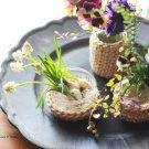 hanaの植物あそび 一輪挿し 瓶カバー 簡単DIY